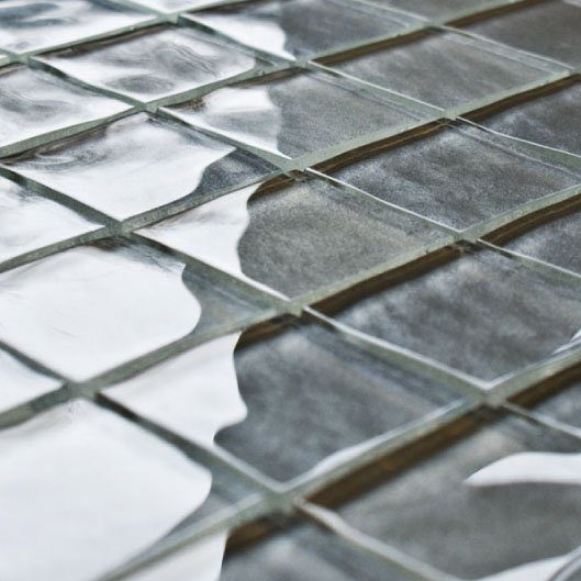 Impressions Cassatt Grey Glass Tiles