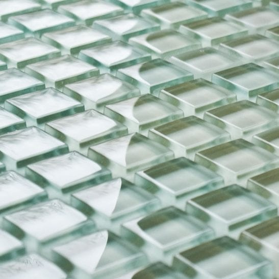 Ice White glass mosaic tiles