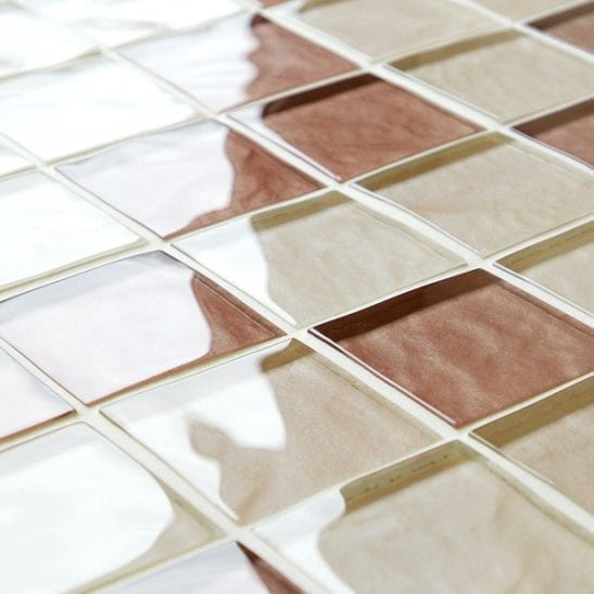 Mixed browns impressions glass mosaic tiles