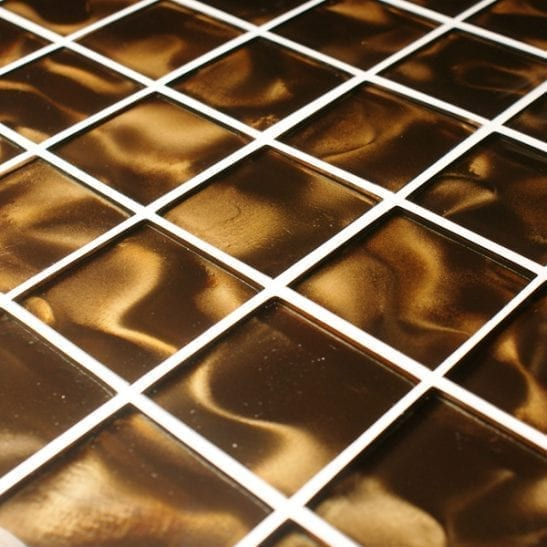 Odyssey Nebular brown glass mosaic tiles