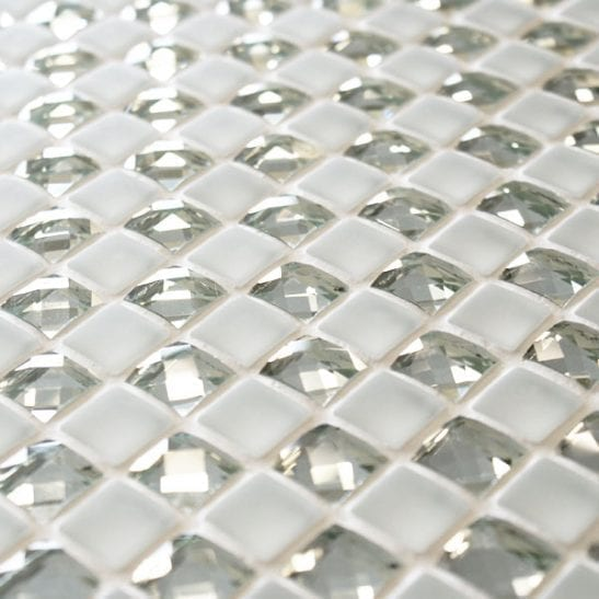 Jewel Manhattan Star white mosaic tiles