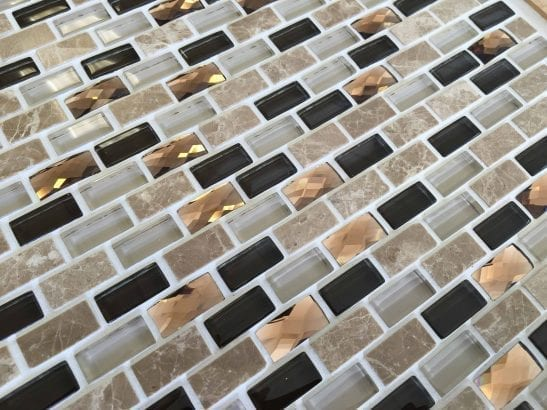 Conch brown mosaic brick tile