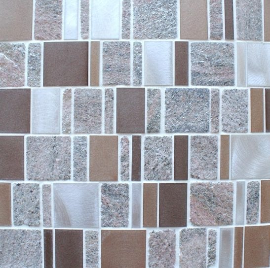 Heritage Rectangular Brown wall and floor mosaic tiles