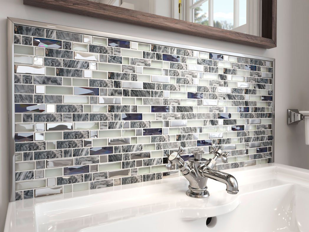 Carrara Grey mosaic tile