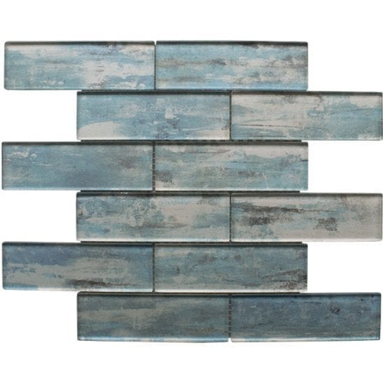 Atlantis Blue Mosaic Brick Tiles