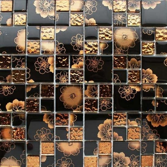 Bronze modular mosaic tiles