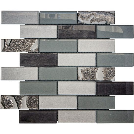 Gala steel glass brick tiles