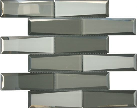 Dernier Grey Glass Tiles