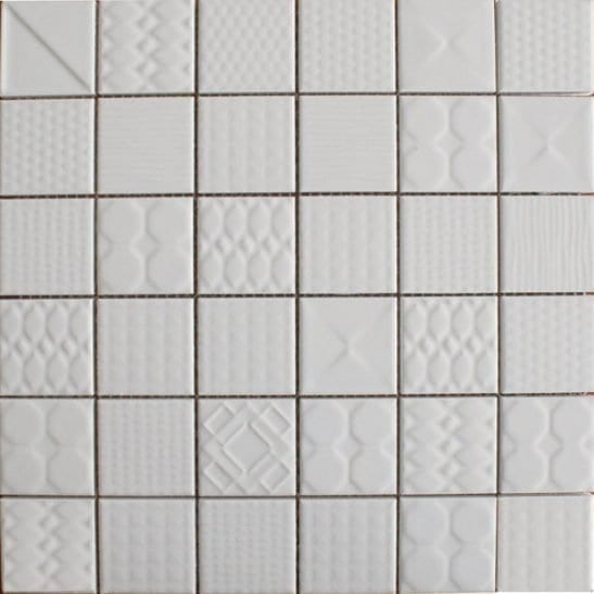 Geo White Ceramic Tiles