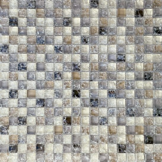 Studio Brown Glass Mosaic Tiles