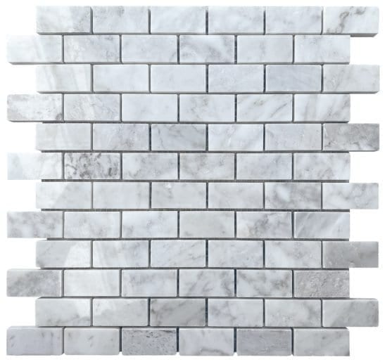 Pantheon Grey Mosaic Brick Tiles
