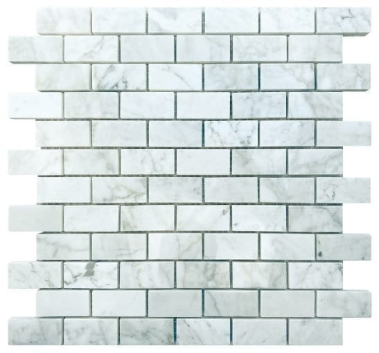 Pantheon White Mosaic Brick Tiles